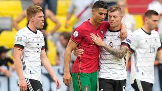 Cristiano Ronaldo y Toni Kroos en la Eurocopa