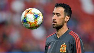 Busquets en entrenamiento con España