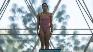 Paola Espinosa durante un entrenamiento