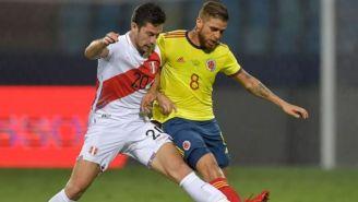Santiago Ormeño con la selección de Perú