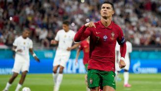 Cristiano Ronaldo tras marcar gol en el duelo entre Portugal y Francia
