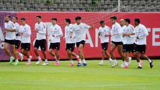 Selección Mexicana en entrenamiento