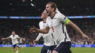 Harry Kane festeja un gol con Inglaterra en la Euro