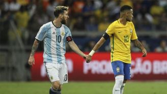 Neymar y Lio Messi durante un partido