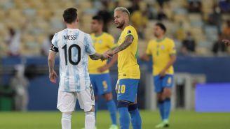 Messi y Neymar en la Final de la Copa América