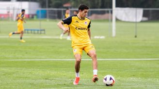 Juan Manuel Sanabria durante entrenamiento con el Atlético de San Luis