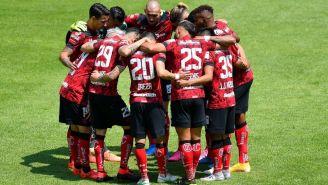 Jugadores del Toluca previo a un partido