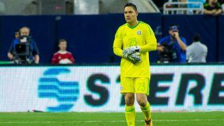 Moisés Muñoz durante un partido con México