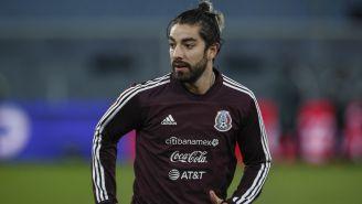 Rodolfo Pizarro en una sesión con el Tricolor