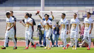 Jugadores de Pumas previo al partido ante Atlas