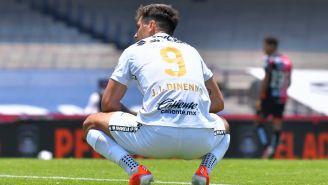 Juan Ignacio Dinenno en lamento con Pumas