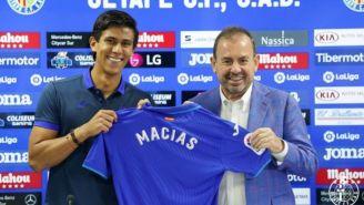 Macías presentado como nuevo jugador del Getafe