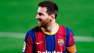 El astro argentino en un partido con el Barcelona