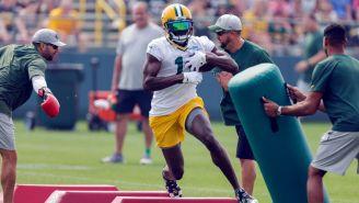 Devin Funchess en práctica con los Packers de Green Bay