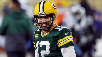 Aaron Rodgers en un partido de los Packers