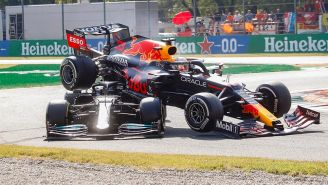 Verstappen y Hamilton tuvieron impresionante choque en Gran Premio de Italia
