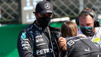 Lewis Hamilton durante el GP de Italia