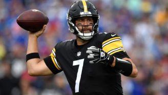 Ben Roethlisberger en acción con Steelers