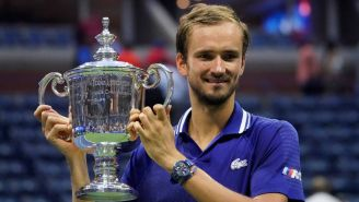 Medvedev con el título del US Open