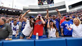 Aficionados en el estadio de Buffalo