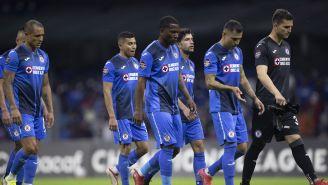 Jugadores de Cruz Azul tras derrota ante Rayados