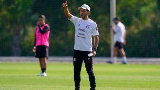 Jaime Lozano mientras dirigía a la Selección Mexicana Sub-23