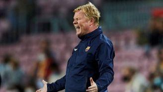 Koeman en el partido con Barcelona
