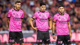 Jugadores de Xolos previo a un duelo en Liga MX