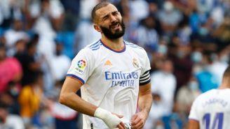 Benzema en un partido del Real Madrid