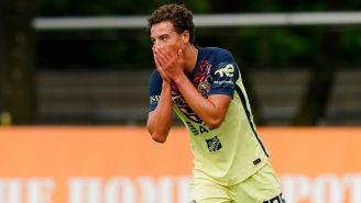 Esteban Lozano en un partido de América Sub 20