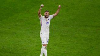 Karim Benzema celebrando un gol con Francia