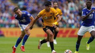 Jiménez en un partido con Wolverhampton