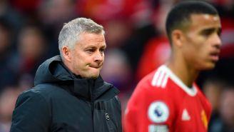 Ole Gunnar Solskjaer reacciona al final del partido entre el United y Liverpool
