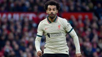 Salah en el juego entre el Manchester United y el Liverpool