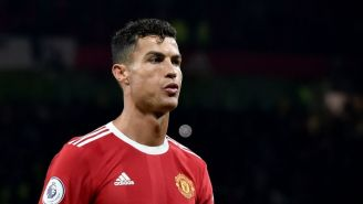 Cristiano Ronaldo en la derrota del Manchester United ante el Liverpool