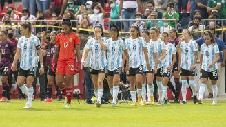Jugadoras de Argentina previo al partido vs el Tri
