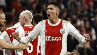 Álvarez en un partido con el Ajax