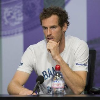 Andy Murray, durante la conferencia en Wimbledom