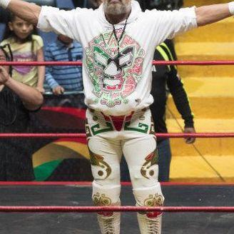 El renovado 'Rey de la lucha libre', en una función