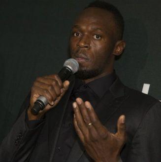 Usain Bolt, durante una presentación de su colección de relojes