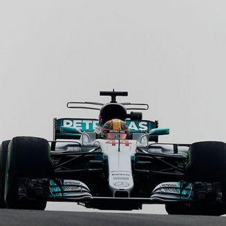 Hamilton, durante práctica previa a GP de Austin