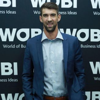 Phelps posa en el marco del World Business Forum México
