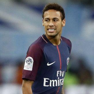 Neymar, durante el juego entre el PSG y Marsella en la Ligue 1