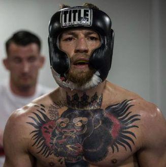 Conor McGregor durante entrenamiento