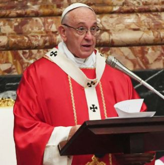 Papa Francisco, en una misa en el Vaticano