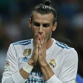 Gareth Bale se lamenta en un juego con el Real Madird