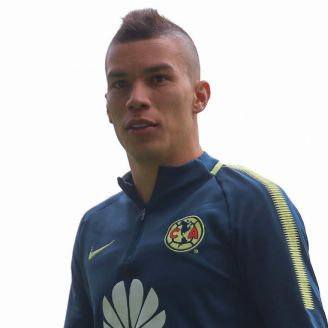 Mateus Uribe, durante un entrenamiento del América