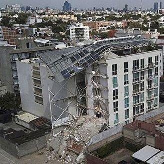El edificio en Zapata 56 quedó totalmente destruido