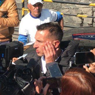 Chaco Giménez haba ante los medios de comunicación