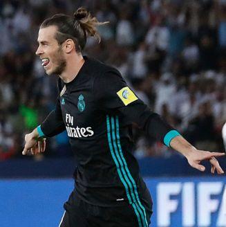 Bale celebra el gol de la victoria con Real Madrid